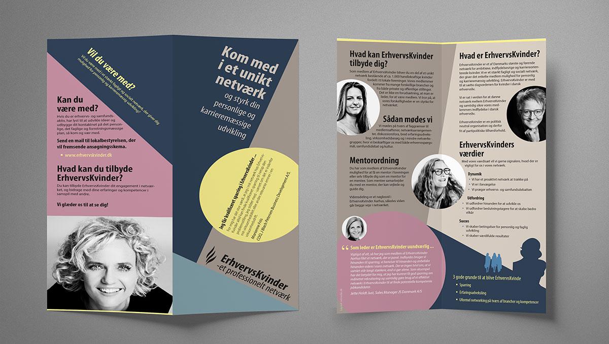 Brochure til ErhversKvinder Aarhus