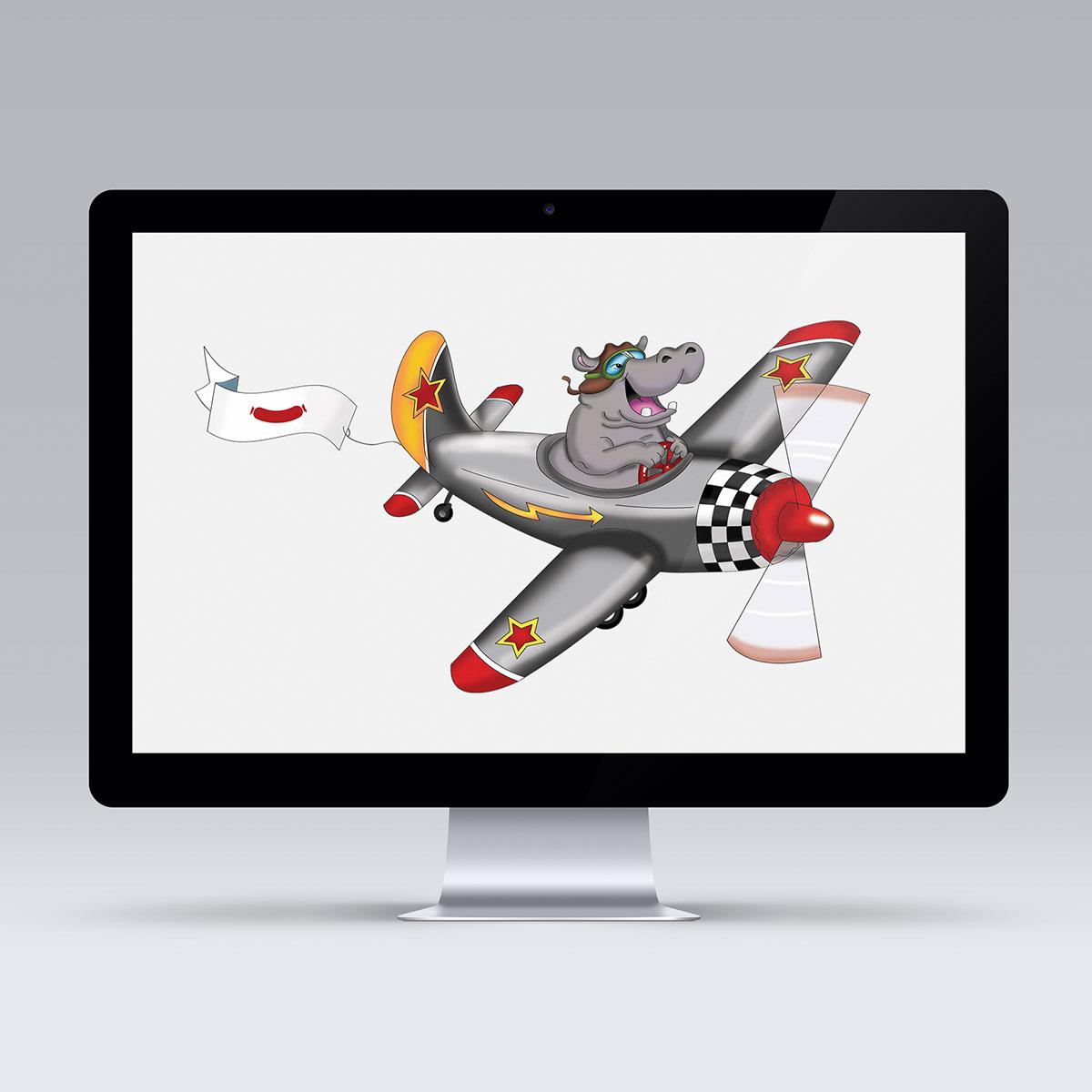 Flomme i fly - fra akvarel til computertegning (vektorgrafik)