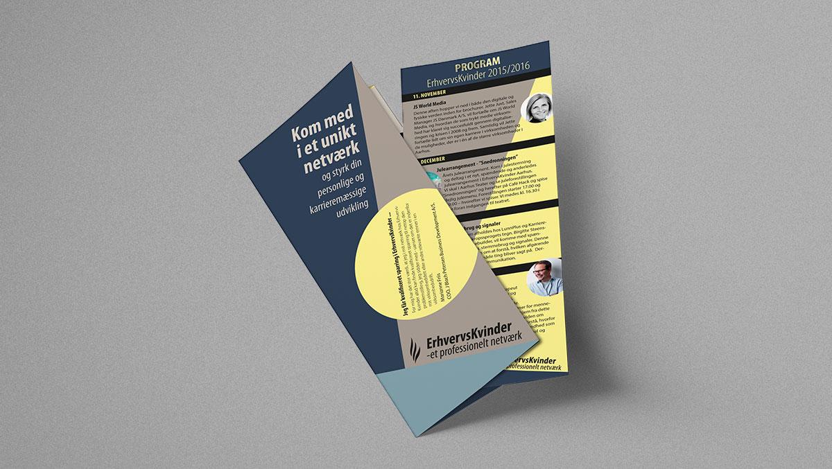 Brochure med indstik til ErhversKvinder Aarhus
