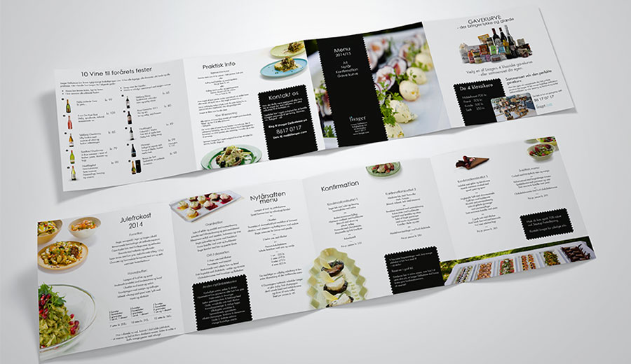4 foldet brochure til Lisager