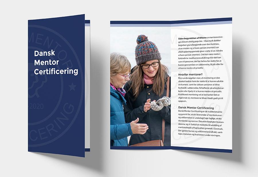 Brochure til Dansk Mentor Certificering