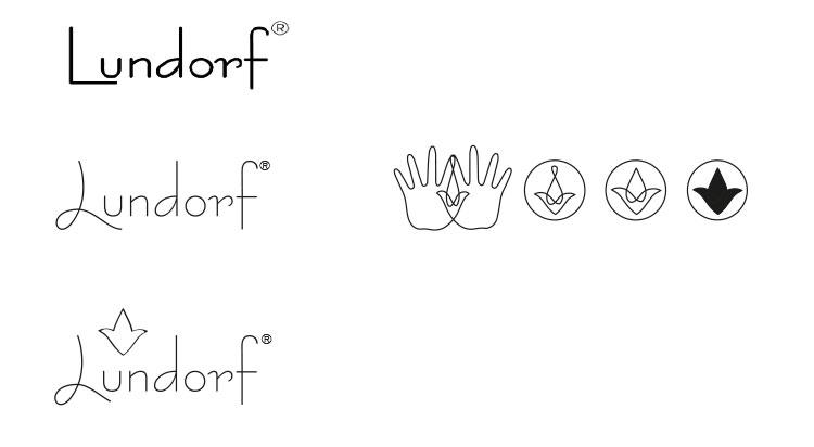 skitseproces - logo og Piktogram til Lundorf.