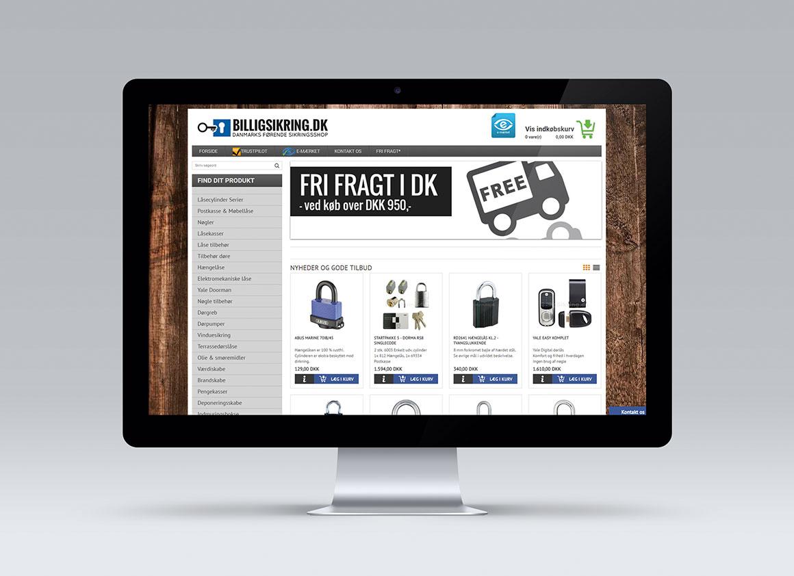 Billigsikring webshopdesign EFTER