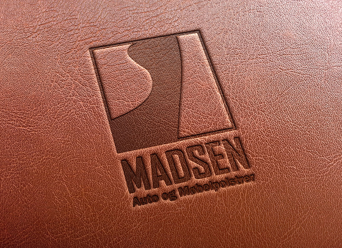 Madsen Møbler logo til præg